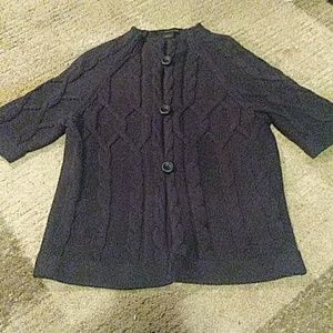 Calvin Klein Dark Blue Button Sweater Large